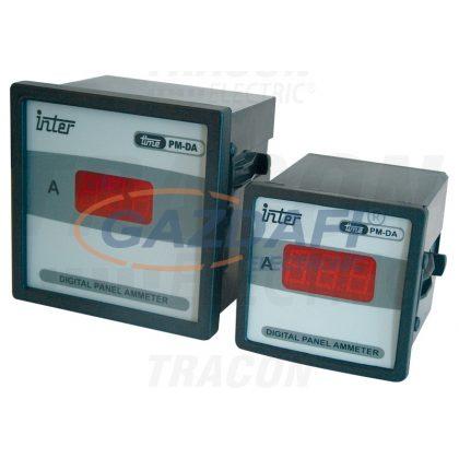 TRACON ACAMD-72-50 Digitális váltakozó áramú ampermérő közvetlen méréshez 72×72mm, 50A AC