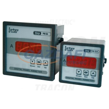 TRACON ACAMD-72 Digitális váltakozó áramú ampermérő áramváltós méréshez 72×72mm, 5A AC