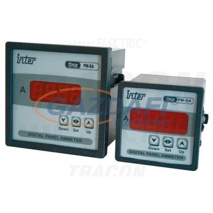 TRACON ACAMD-96 Digitális váltakozó áramú ampermérő áramváltós méréshez 96×96mm, 5A AC