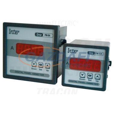 TRACON ACAMD-P-96 Digitális ampermérő áramváltós méréshez relékimenettel 96×96mm, 5A AC