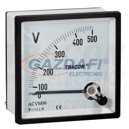 TRACON ACVM48-450 Analóg váltakozó áramú voltmérő 48×48mm, 450V AC