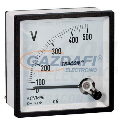 TRACON ACVM72-450 Analóg váltakozó áramú voltmérő 72×72mm, 450V AC