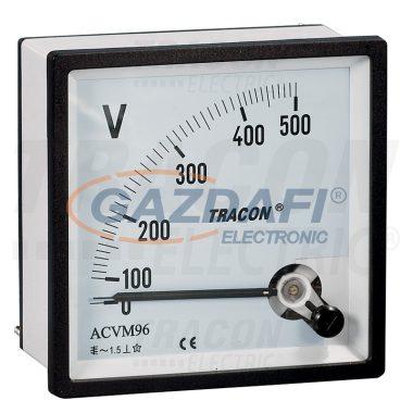 TRACON ACVM96-120 Analóg váltakozó áramú voltmérő 96×96mm, 120V AC