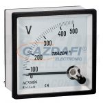 TRACON ACVM96-450 Analóg váltakozó áramú voltmérő 96×96mm, 450V AC