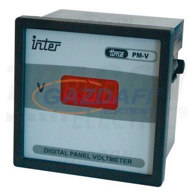 TRACON ACVMD-72-500 Digitális 1 fázisú váltakozó áramú voltmérő, direkt 72×72mm, 500V AC