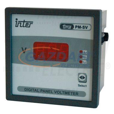 TRACON ACVMD-K-72-500 Digitális 3 fázisú váltakozó áramú voltmérő, direkt 72×72mm, 500V AC