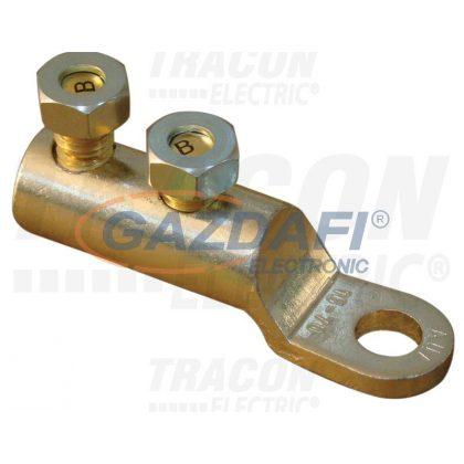 TRACON AS16-70CS12 Szakadófejes csavaros alumínium szemes csősaru 16-70mm2, 2×M12