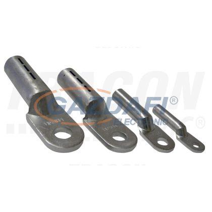 TRACON AS25-6 Szigeteletlen alumínium szemes csősaru 25mm2, M6, (d1=7mm, d2=6,4mm), 10 db/csomag