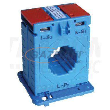 TRACON AV30100SH Sínre fűzhető áramváltó, 30-as sínre 100A/5A, 3,75VA, Po:0,5