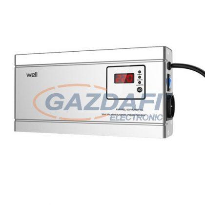 WELL AVR-REL1500VAHSR Stabilizator automat de tensiune cu releu 1500VA / 900W, orizontal, argintiu