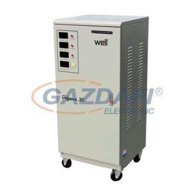 WELL AVR-SRV/TRI-DFC15KVA-WL Automatikus feszültségstabilizátor 15KVA / 12KW