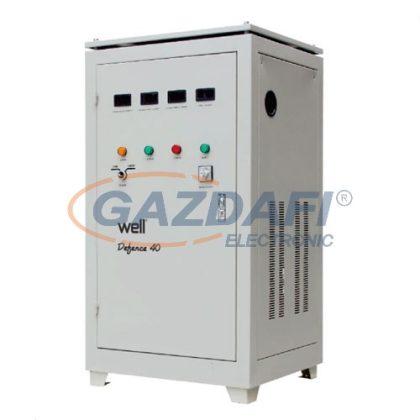 WELL AVR-SRV/TRI-DFC40KVA-WL Automatikus háromfázisú feszültségstabilizátor 40KVA / 32KW