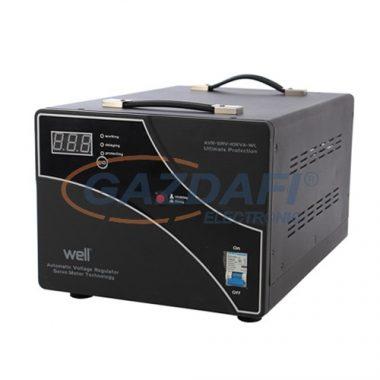 WELL AVR-SRV10KVA Automatikus feszültségstabilizátor szervo motorral 10000VA / 6000W