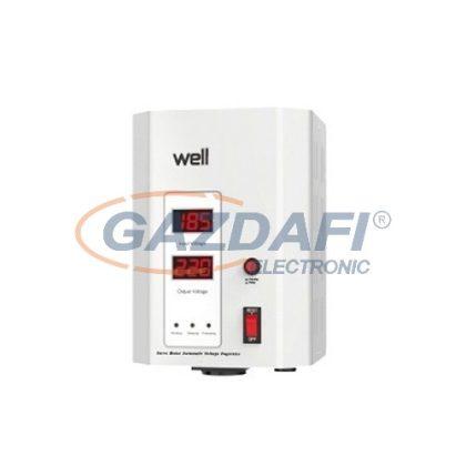 WELL AVR-SRVSPRY1000WE Automatikus feszültség stabilizátor fali szervo motorral, 1000VA, fehér
