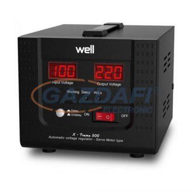 WELL AVR-SRVXTREME500 Automatikus feszültségstabilizátor szervo motorral 500VA