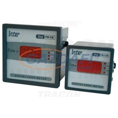 TRACON CFD-96 Digitális teljesítménytényezőmérő 96×96mm, 0,1-0,99
