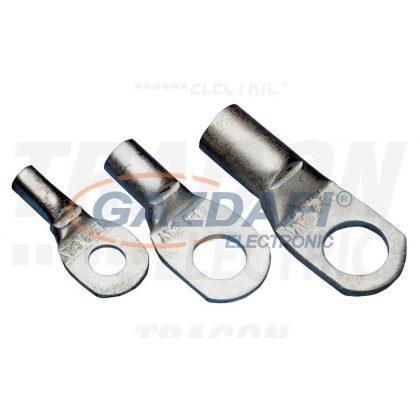 TRACON CL50-12 Szigeteletlen szemes csősaru, ónozott elektrolitréz 50mm2, M12, (d1=9,5mm, d2=13mm)