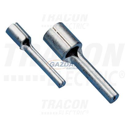 TRACON CS4 Szigeteletlen csapos saru, ónozott elektrolitréz 4mm2, (d1=3,4mm, L=20mm)