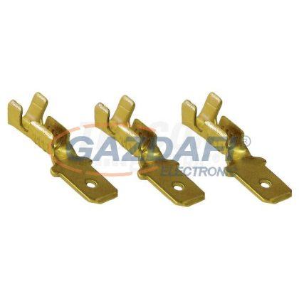 TRACON CS5 Szigeteletlen rátolható csatlakozó csap, sárgaréz 4,8×0,5mm, 0,5-1mm2