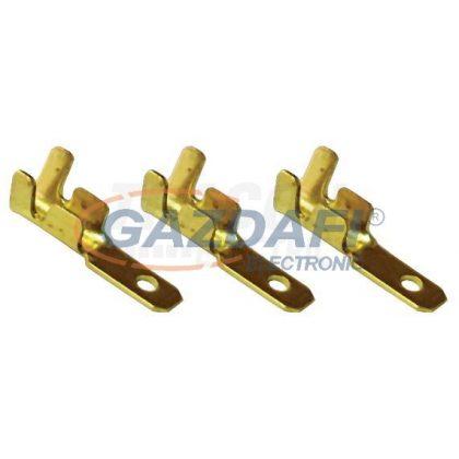 TRACON CS6 Szigeteletlen rátolható csatlakozó csap, sárgaréz 6,3×0,8mm, 1-2,5mm2