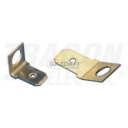 TRACON CSA-45-4 Csavaros rögzítésű szigeteletlen csatlakozó csap, sárgaréz 6,3x0,8mm 45°, M4