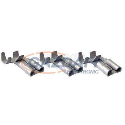 TRACON CSH09B Szig.tlen rátolható csatl. hüvely, ónozott réz, rögz.csapos 6,3×0,8mm, 1-2,5mm2, 90°