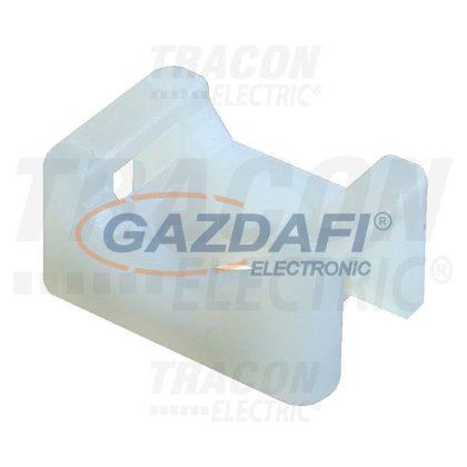 TRACON CSTALP-3 Csavarozható, 2oldalt fűzhető kábelkötegelő talp, natúr 12.8×7mm, d=3.3mm, PA6.6