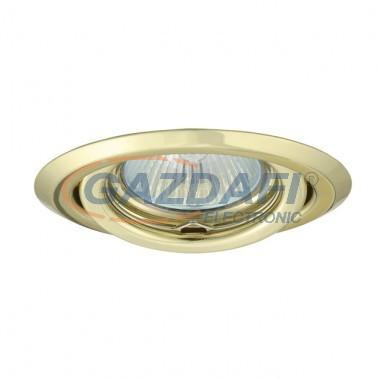 KANLUX süllyesztett spot lámpatest, Gx5,3, 12V, MR16, 50W, fényarany, billenthető, IP20