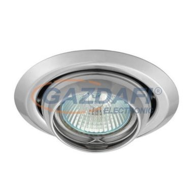 KANLUX süllyesztett spot lámpatest, békaszem, Gx5,3, 12V, MR16, 50W, króm, IP20