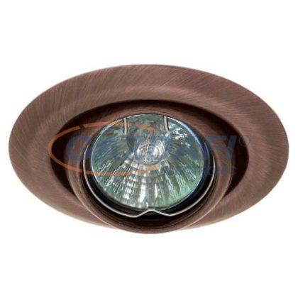 KANLUX süllyesztett spot lámpatest, Gx4, 12V, MR11, 20W, bronz, billenthető