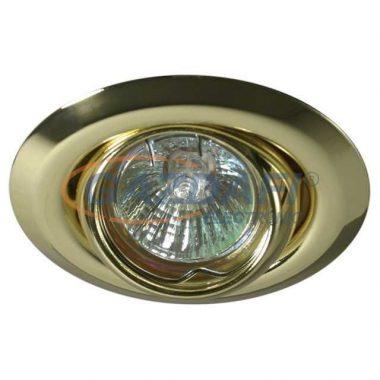 KANLUX süllyesztett spot lámpatest, Gx4, MR11, 12V, 20W, billenthető, fényarany