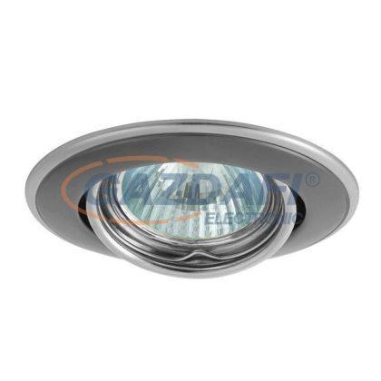 KANLUX süllyesztett spot lámpatest, Gx5,3, 12V, MR16, 50W, grafit-nikkel, billenthető, IP20