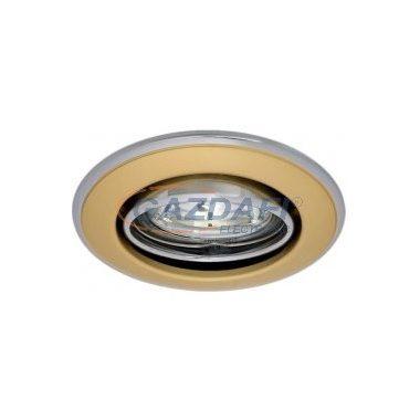 KANLUX süllyesztett spot lámpatest, GU5,3, MR16, 12V, 50W, króm-arany, billenthető, IP20