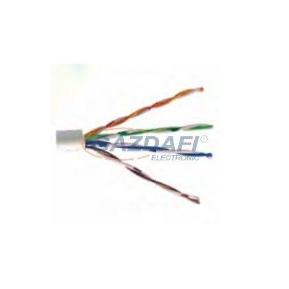 Cat6 hálózati kábel, 1000Mbit/s, szürke, 305m tekercs