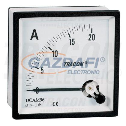 TRACON DCAM48-20 Analóg egyenáramú ampermérő közvetlen méréshez 48×48mm, 20A DC