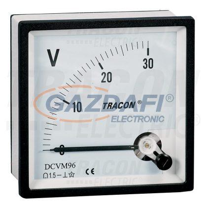 TRACON DCVM96-30 Analóg egyenáramú voltmérő 96×96mm, 30V DC