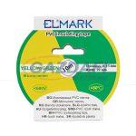 ELMARK 51015 Szigetelő szalag PVC 10mx19mm zöld/sárga
