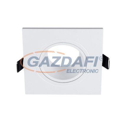 ELMARK 89145 Süllyesztett szögletes spot lámpatest, 12V, max. 20W, fehér, műanyag, 93x93mm, A++-E