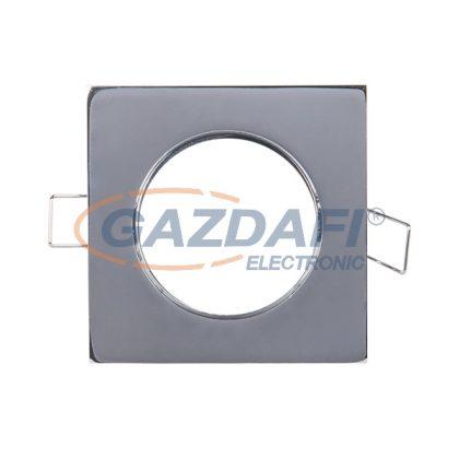 ELMARK 89153 Süllyesztett szögletes spot lámpatest, 12V, max. 50W, króm, rozsdamentes acél, 85x85mm, A++-E