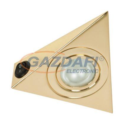 """ELMARK 92255K/G """"SIM-255K"""" falon kívüli hidegtükrös spot lámpatest kapcsolóval, G4, JC, 20W, 12V, arany, 130x130x40mm, A++-E"""