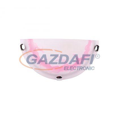 """ELMARK 9501732075 """"Lidia017"""" Fali lámpa, E27, 1x60W, 230V, d=0.5x300mm, rózsaszín, A++-E"""