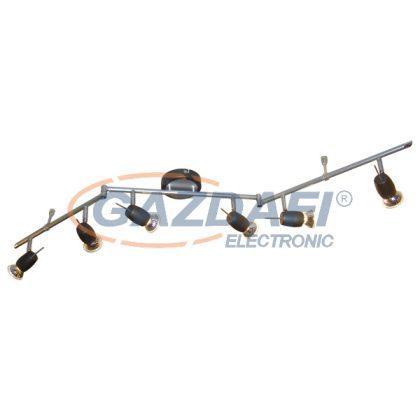 ELMARK 9520024 VRANA 3606 Spot lámpa 230V max. 50W ezüst-fekete 6XGU10