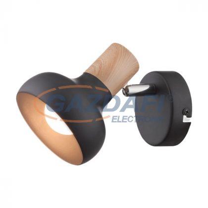 "ELMARK 955ADDY1W/BL ""Addy"" falon kívüli spot lámpa, 1xE14, fekete/fa, 80x150mm, A++-E"