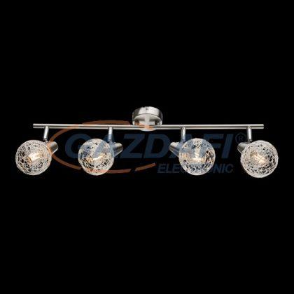 """ELMARK 955JULIE4 """"Julie"""" falon kívüli spot lámpa, 4xE14, szatén nikkel/alumínium, 600x175mm, A++-E"""