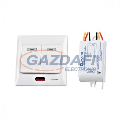 ELMARK 99102 Kétcsatornás távirányító kapcsoló, 220V, 50m, 200W/600W