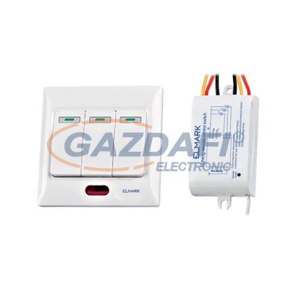 ELMARK 99103 Háromcsatornás távirányító kapcsoló, 220V, 50m, 200W/600W