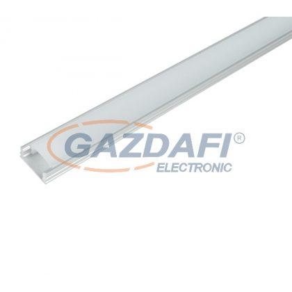 ELMARK 99ACC08 ELM718/1 LED profil, falon kívüli, alumínium, üres, 2m, matt fedél, 15x6mm