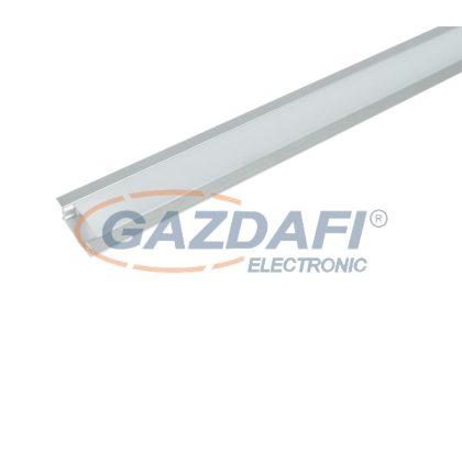 ELMARK 99ACC12 ELM718/2 LED profil, süllyesztett, alumínium, üres, 2m, matt fedél, 15x6mm