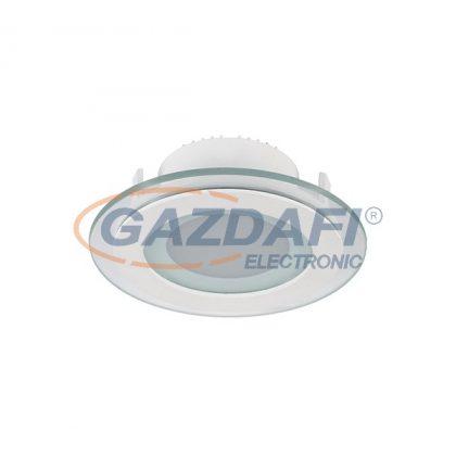 ELMARK 99LED638 Süllyesztett kerek LED panel üveg borítással, Epistar SMD, 6W, 230V, 480lm, 4000-4300K, fehér, d=100mm, IP40, A++-A, 30000h