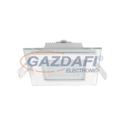 ELMARK 99LED643 Süllyesztett szögletes LED panel üveg borítással, Epistar SMD, 6W, 230V, 480lm, 2700-3000K, fehér, 97x97mm, IP40, A++-A, 30000h